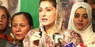 Maryam slams Nawaz Sharif hatters for throwing shoe at him