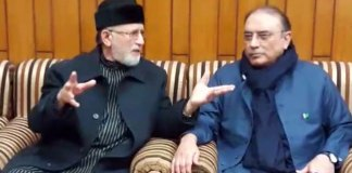 Qadri calls on Zardari, discuss Mall Road protest