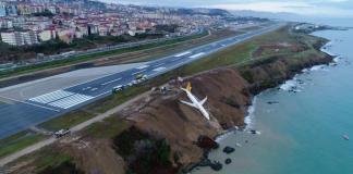 plane skids off turkish runway