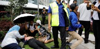 Indonesia rules out bomb as exchange floor collapse injures a dozen