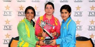 PCB unveils trophy of triangular women cricket tournament