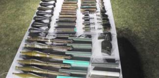 Huge cache of arms, explosives recovered during operations in Balochistan
