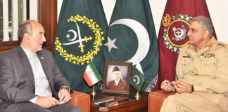 Iranian, Turkish envoys call on General Qamar Bajwa