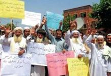 Scores protested in Peshawar against filing of FIR against Pakhtun protest leaders