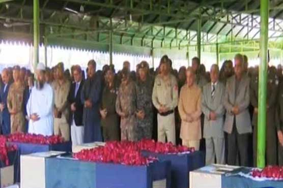 Raiwind blast: Funeral prayers of martyred offered in Lahore