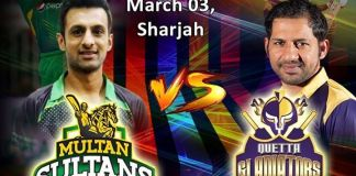 PSL-3: Quetta Gladiators to take on Multan Sultans today