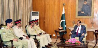 Commander Sri Lankan Army calls on President Mamnoon