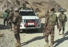 Four terrorists killed, one soldier martyred in Awaran operation
