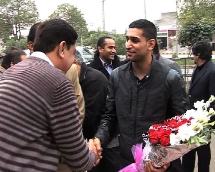 Amir Khan arrives in Lahore for Punjab Open Boxing Championship