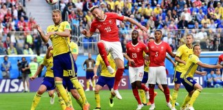Sweden beat Switzerland 1-0 to reach World Cup quarter-finals