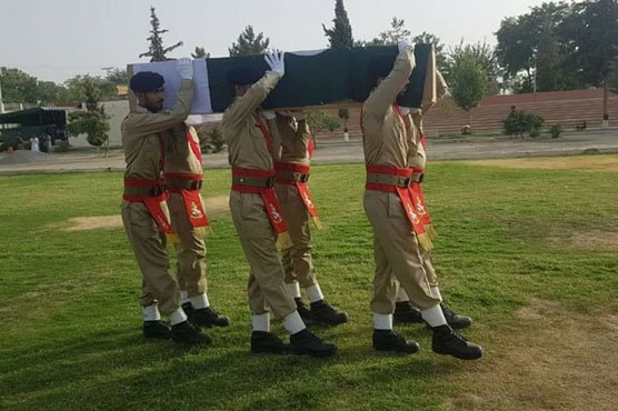 Siraj Raisani's funeral prayer offered in Quetta