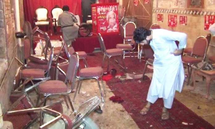 ANP leader Haroon Bilour among 20 killed in Peshawar blast