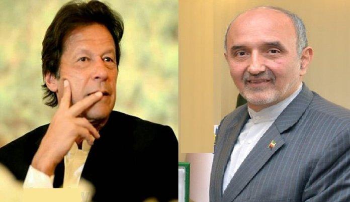 Iranian envoy felicitates Imran Khan on election victory