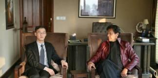 Chinese envoy calls on Imran Khan, felicitates him on victory
