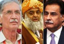 ECP reserves verdict in Sadiq, Khattak, Maulana Fazl foul language case