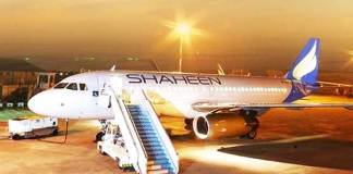 Shaheen Air's plane