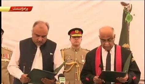 Shah Farman takes oath as KP governor