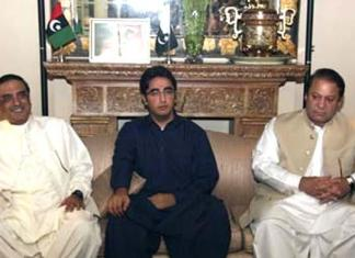 Zardari, Bilwal condole with Nawaz over Begum Kulsoom's death