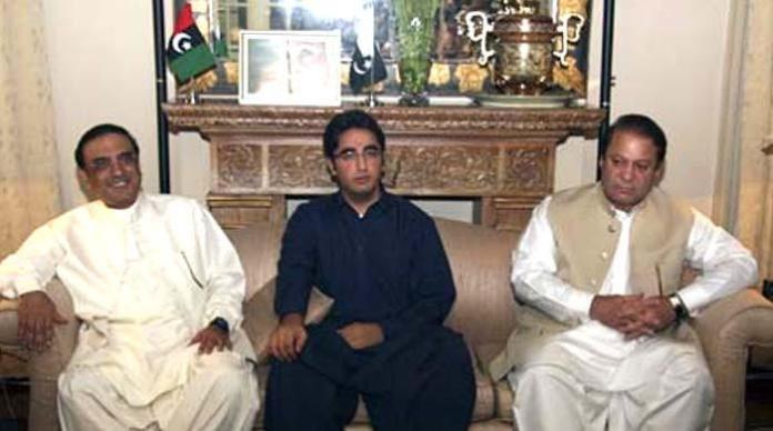 Zardari, Bilwal condole with Nawaz over Begum Kulsoom's death