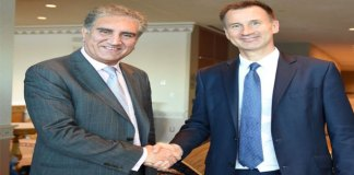 FM Qureshi meets his Britain counterpart, discuss bilateral ties