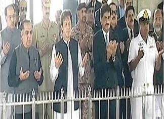 PM Imran Khan visits Quaid's mausoleum