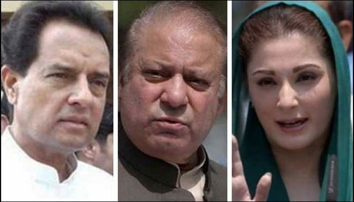 Image result for Bench constituted to hear NAB appeal against Nawaz, Maryam, Safdar's release