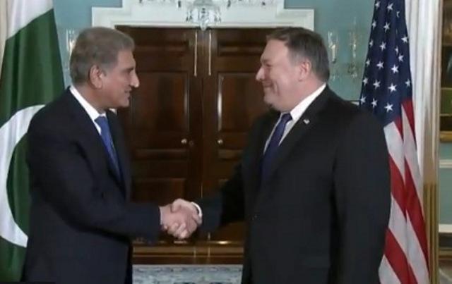 FM Qureshi meets Pompeo, discusses Pak-US bilateral ties