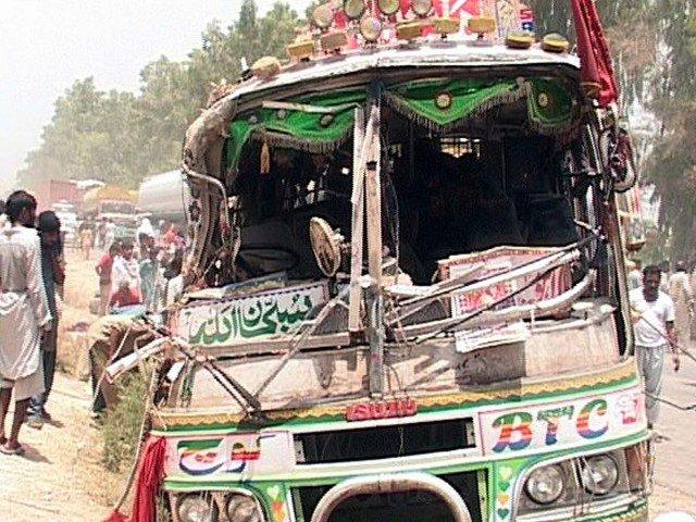 21 killed, 40 injured as two passenger buses collide in DG Khan