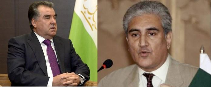 Tajikistan president, FM Qureshi discuss regional matters