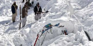 Four persons killed under avalanche in Chitral