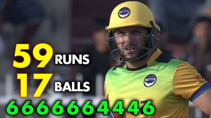 Shahid Afridi smashes 14-ball fifty in T10 League