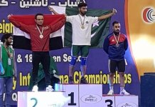 Talha Talib wins gold for Pakistan at weightlifting championship