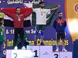 Talha Talib wins gold for Pakistan at weightlifting championship