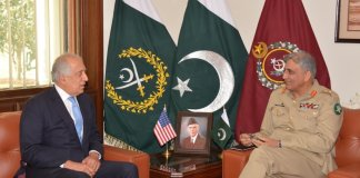 Zalmay Khalilzad calls on Army Chief, discusses Afghan peace process