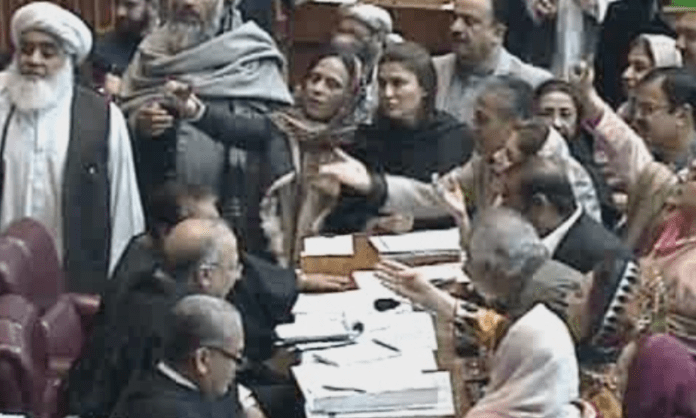 Opposition's protest disrupts NA proceedings, session adjourned till tomorrow