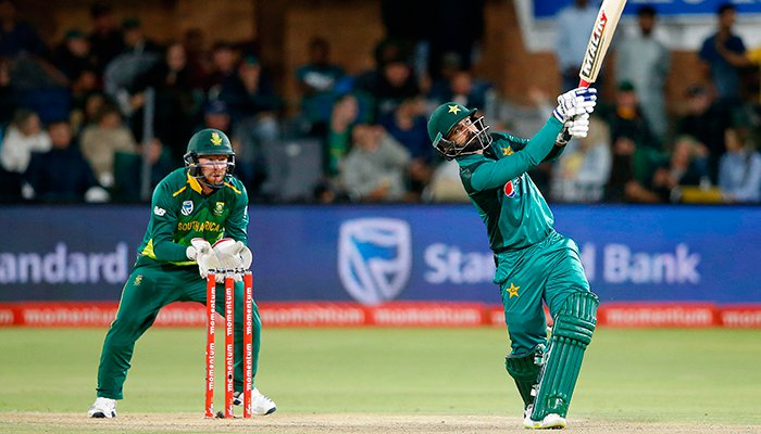 hassan helps pakistan set south africa 204 run target in 2nd odi