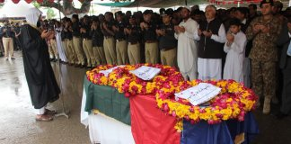 Police officer martyred in Hayatabad operation laid to rest