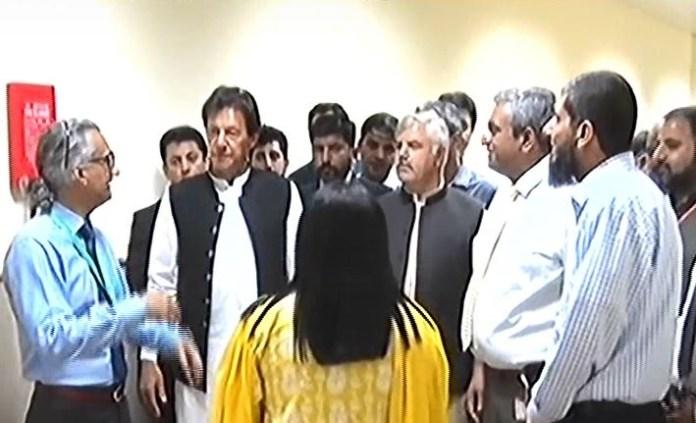PM Imran visits Shaukat Khanum Hospital in Peshawar