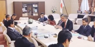 FM Qureshi, Japanese Deputy PM discuss cooperation in various fields