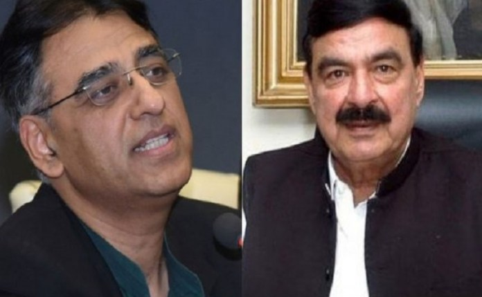 Sheikh Rashid meets Asad Umar to convince him to return to cabinet