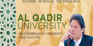 PM Imran Khan to lay foundation stone of Al-Qadir University in Sohawa