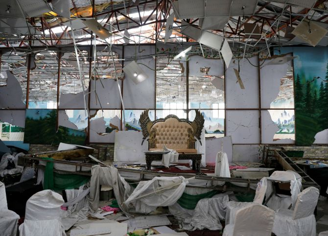 63 killed, 182 wounded in suicide blast at wedding in Kabul: official