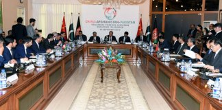 Pakistan, China, Afghanistan agree to continue joint efforts for promoting regional peace