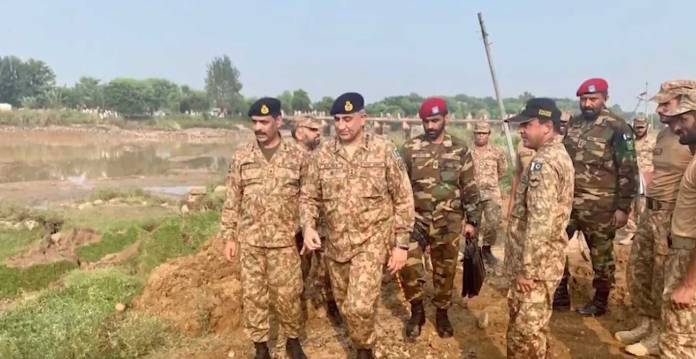 COAS Gen Bajwa visits earthquake affected areas of Azad Kashmir