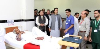 PM Imran Khan meets earthquake victims in Mirpur