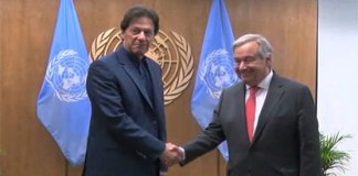 PM Imran meets UN chief, highlights risks of regional peace, security