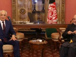 Zalmay Khalilzad in Kabul to brief Afghan president on peace efforts