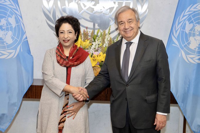 Maleeha Lodhi briefs UN chief on plight of Kashmiris in farewell call