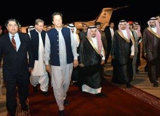 PM Imran reaches Saudi Arabia as part of peace initiative