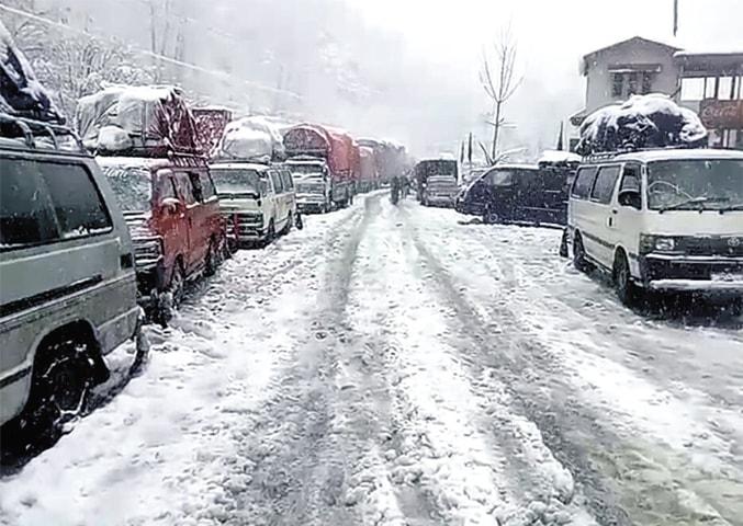Roads closed in Kaghan, Kohistan, Timergara & Haripur due to land sliding